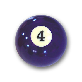"Billardkugel Nr.4  Pool-Ball ""Favorite"" Nr. 4..."