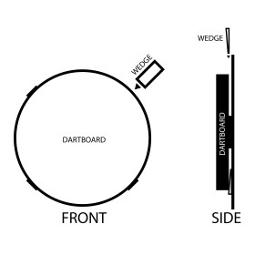 Bull´s Dartboard Unterlegkeil Schaumstoffkeile 4...