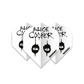 Winmau Flights Rock Band Alice Cooper White