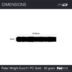 Red Dragon Steeldarts Peter Wright Euro 11 Element Gold PC 20g