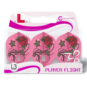L-Style Flights Champagne L3 Shape Lisa Ashton Pink V2