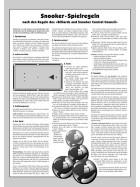 Turnier-Regeln Snooker