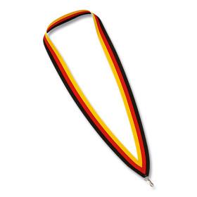 Medaillen Halsband schwarz / rot / gelb