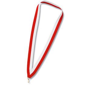 Medaillen Halsband rot / weiss