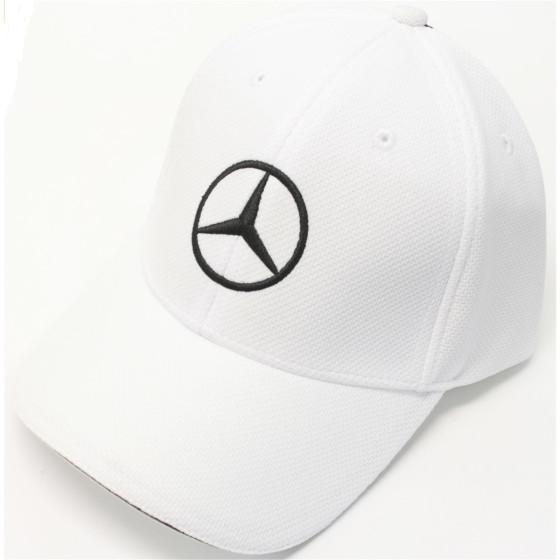 Mercedes Cap weiß-schwarz Herren