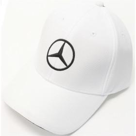 Mercedes Cap Herren weiß-schwarz