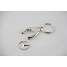 Mercedes Schlüsselanhänger silber