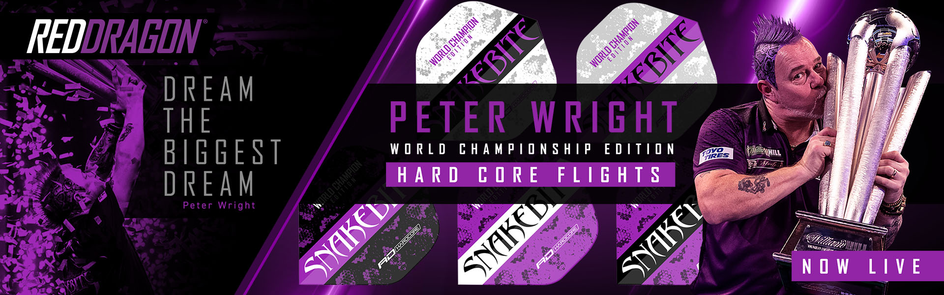 Peter Wright World Champion Flights Red Drago